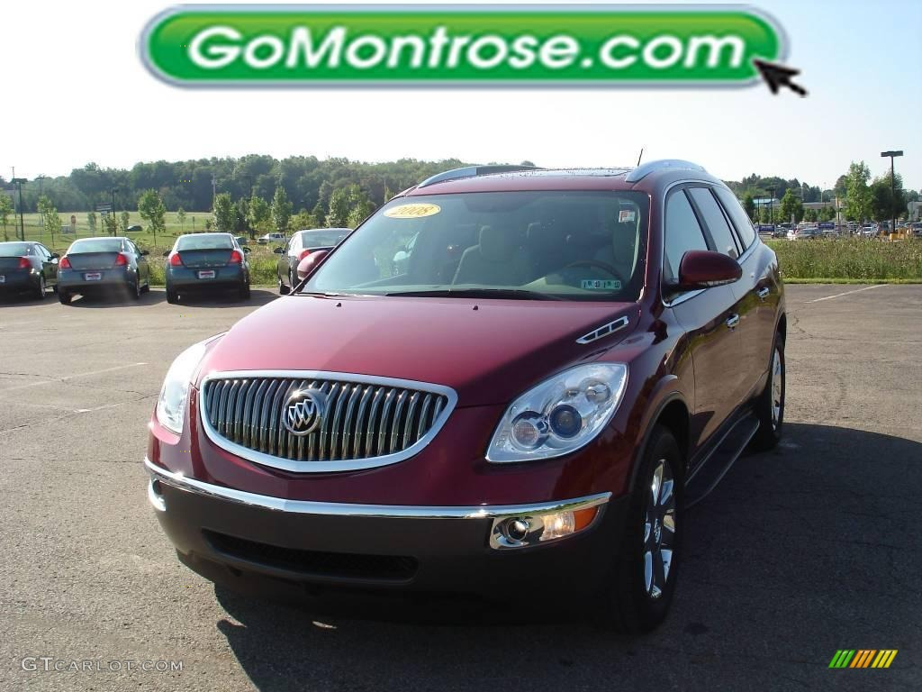 2008 Enclave CXL - Red Jewel / Titanium/Dark Titanium photo #19