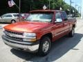 2001 Sunset Orange Metallic Chevrolet Silverado 1500 LS Extended Cab 4x4  photo #5