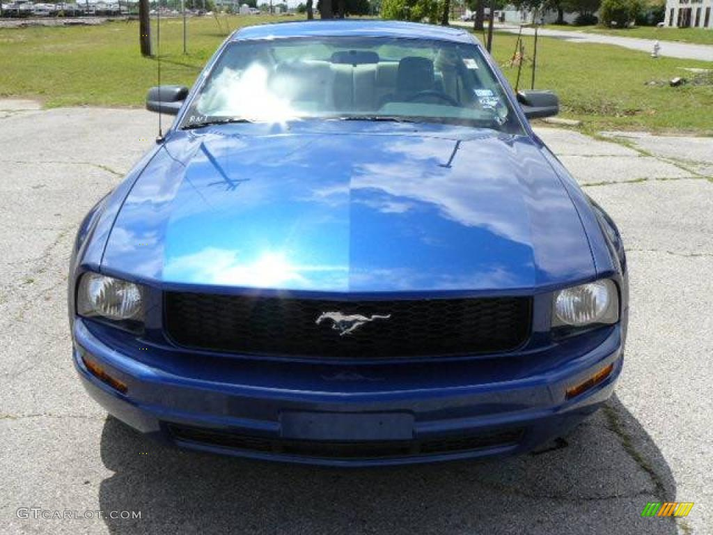 2007 Mustang V6 Deluxe Coupe - Vista Blue Metallic / Medium Parchment photo #1