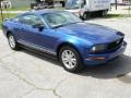 2007 Vista Blue Metallic Ford Mustang V6 Deluxe Coupe  photo #2