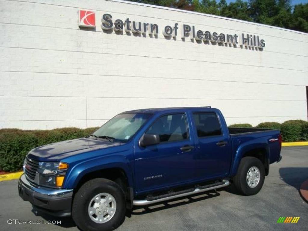 2005 superior blue metallic gmc canyon sle crew cab 4x4 15118000 car color. Black Bedroom Furniture Sets. Home Design Ideas
