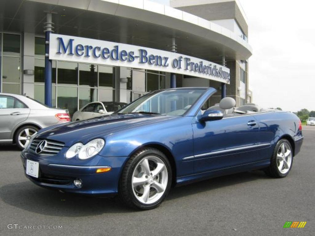 2005 orion blue metallic mercedes benz clk 320 cabriolet for Mercedes benz clk 2005