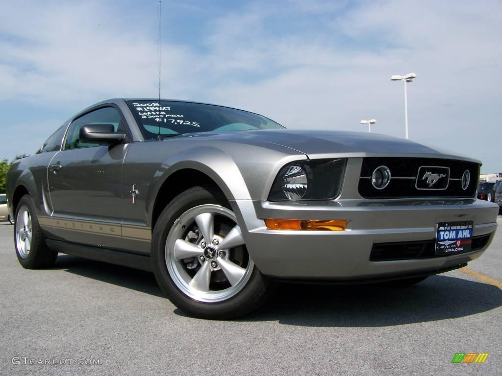 2008 vapor silver metallic ford mustang v6 premium coupe. Black Bedroom Furniture Sets. Home Design Ideas