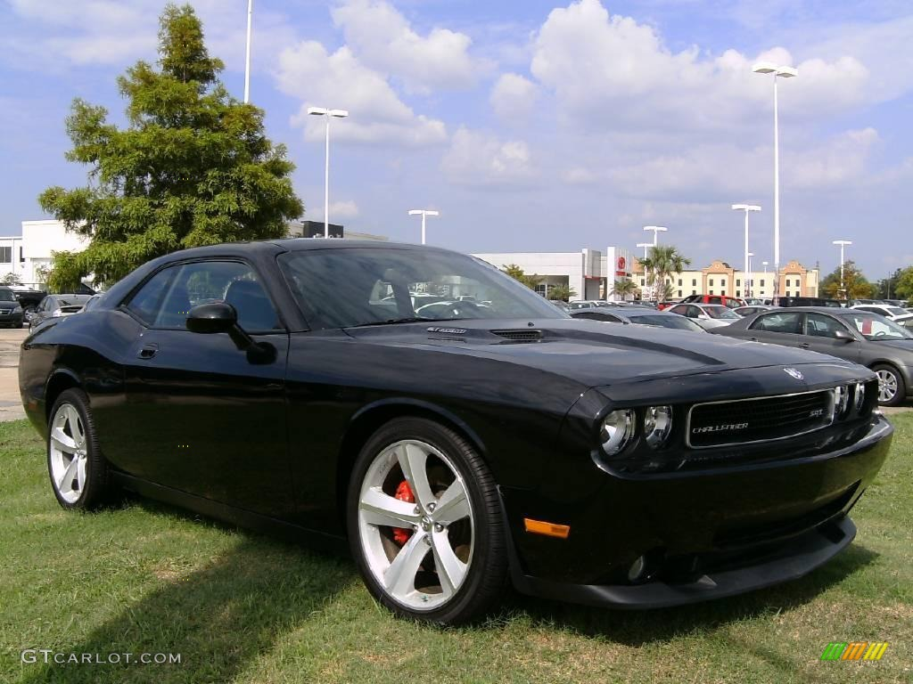2008 challenger srt8 brilliant black crystal pearl dark slate gray photo 3