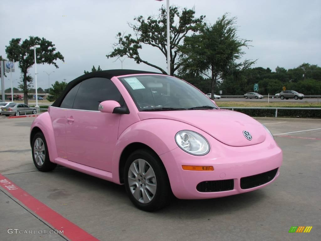 beetle convertible pink