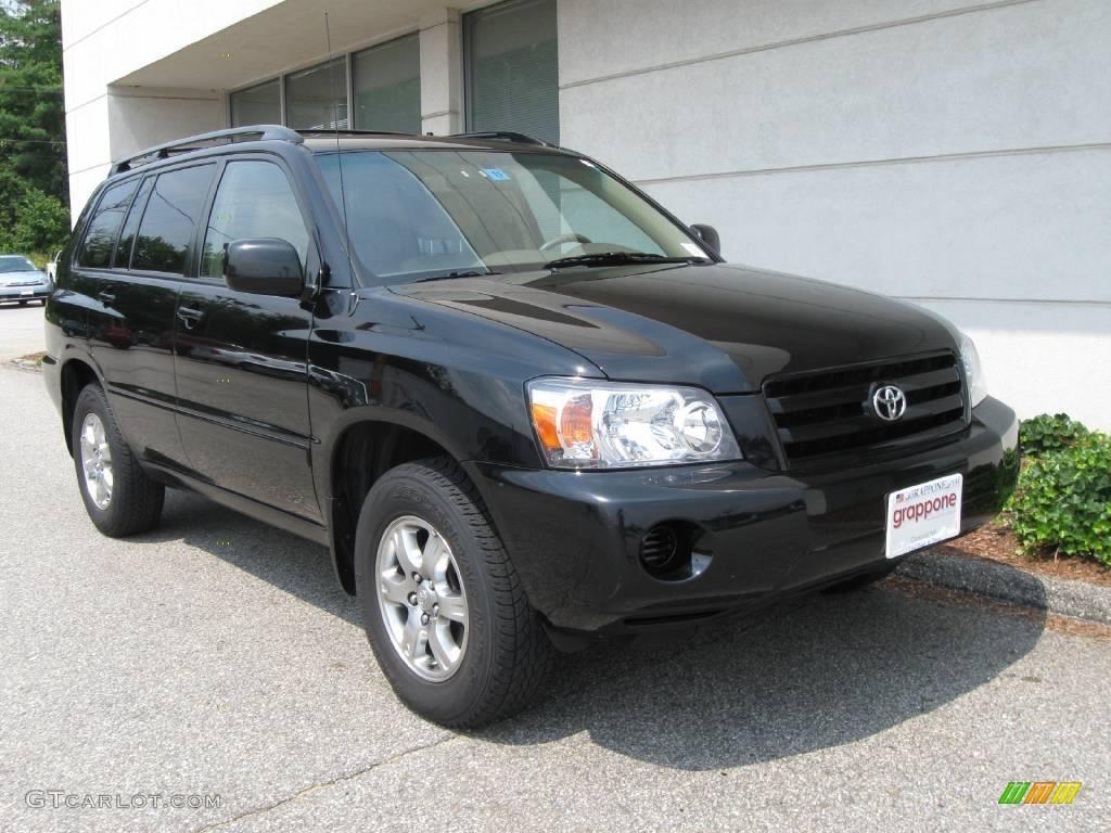 2006 Black Toyota Highlander 4wd 15207265 Car Color Galleries
