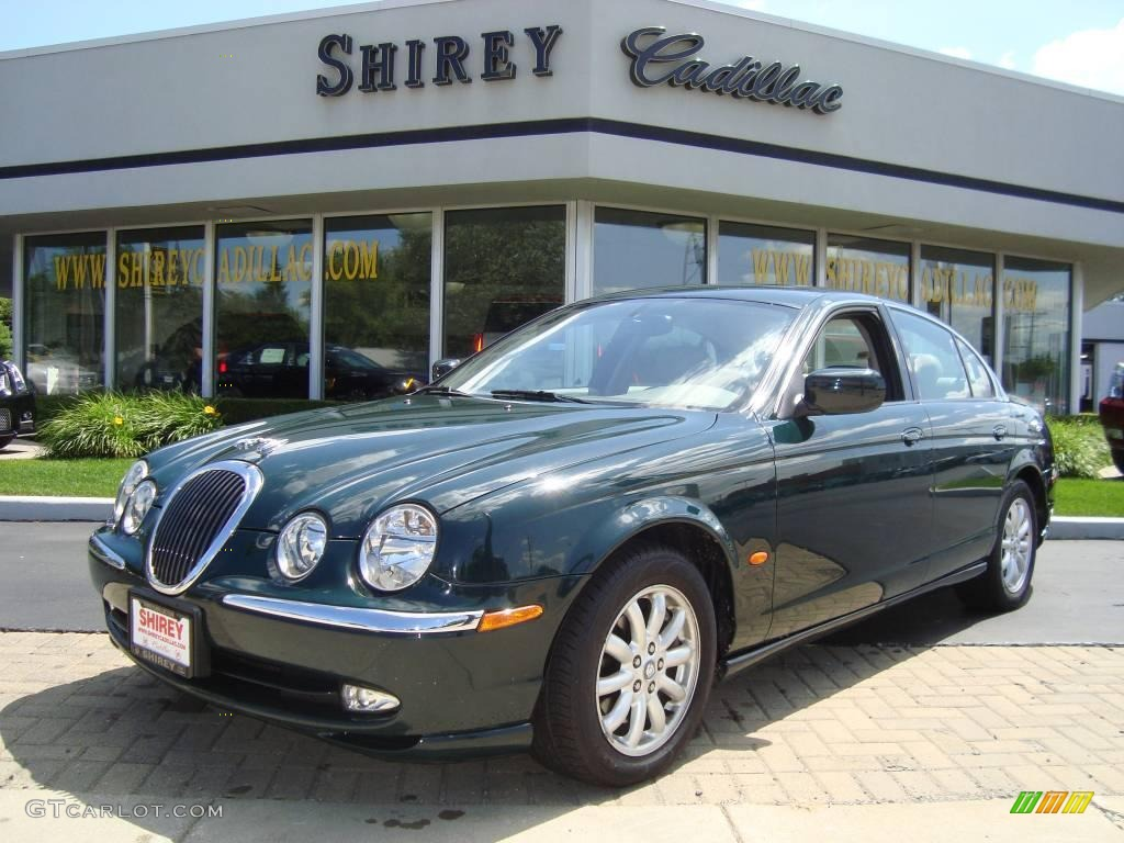British Racing Green Jaguar S Type