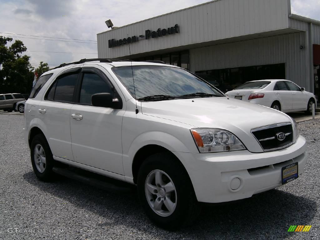 2006 clear white kia sorento lx 15198321 car color galleries. Black Bedroom Furniture Sets. Home Design Ideas