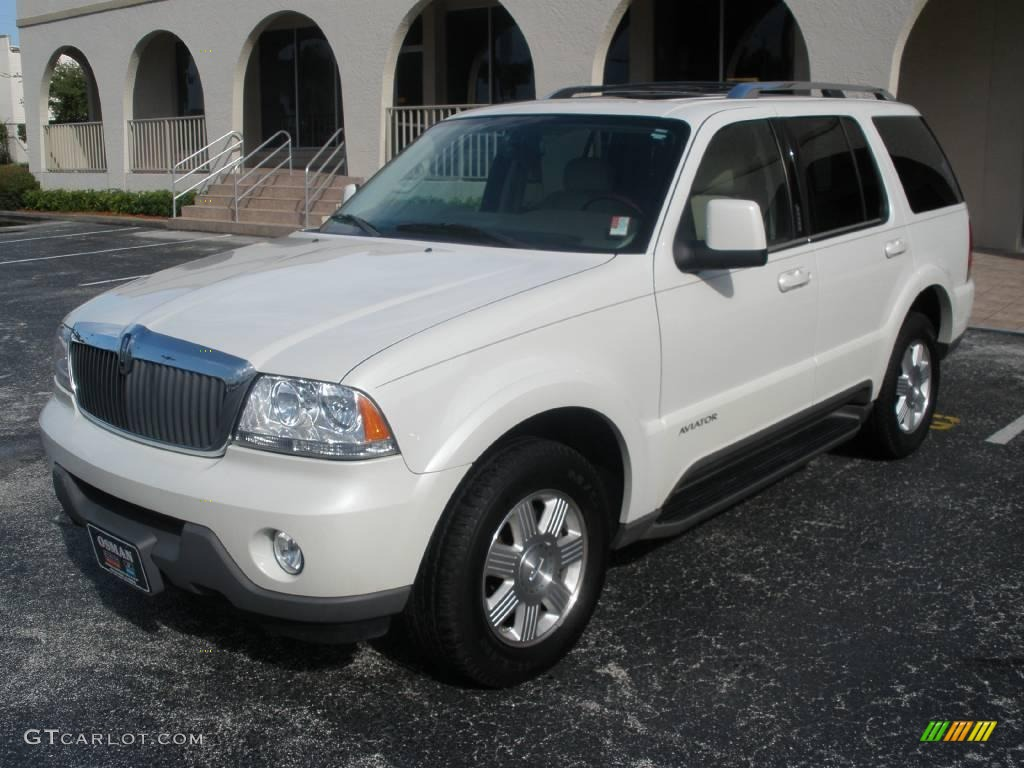 2004 ceramic white tri coat lincoln aviator luxury awd. Black Bedroom Furniture Sets. Home Design Ideas