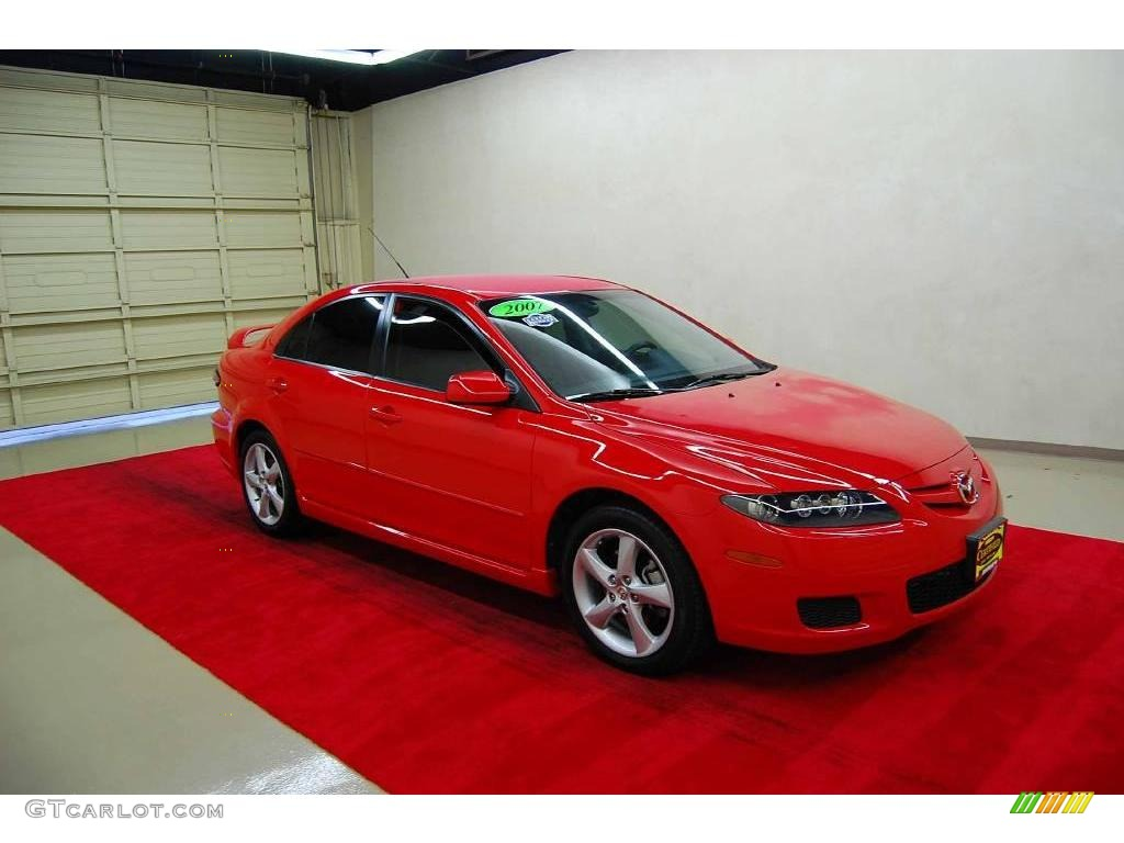 2007 volcanic red mazda mazda6 i touring hatchback 15201112 car color galleries. Black Bedroom Furniture Sets. Home Design Ideas