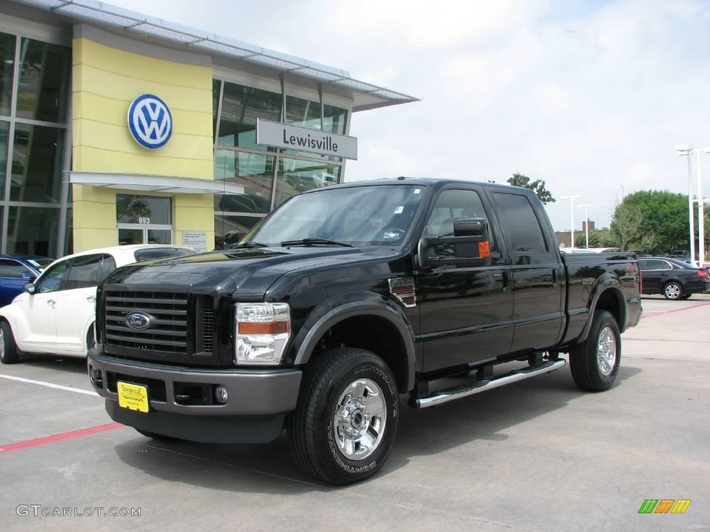 2008 black ford f250 super duty fx4 crew cab 4x4 15207885 car color galleries. Black Bedroom Furniture Sets. Home Design Ideas