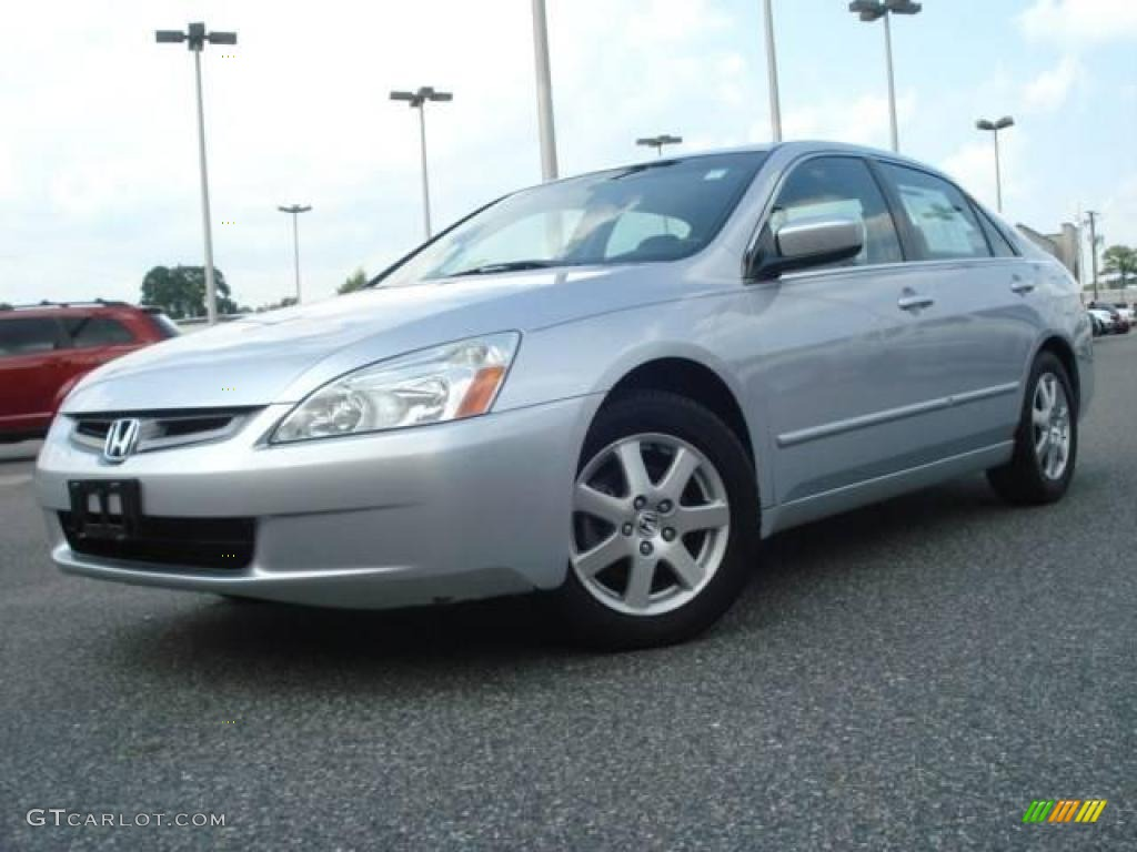 2005 satin silver metallic honda accord ex l v6 sedan. Black Bedroom Furniture Sets. Home Design Ideas
