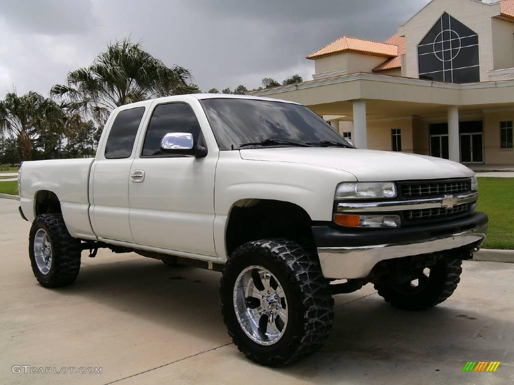 2002 Summit White Chevrolet Silverado 1500 Ls Extended Cab