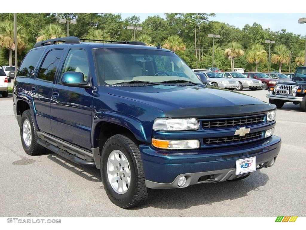 Bermuda blue metallic chevrolet tahoe