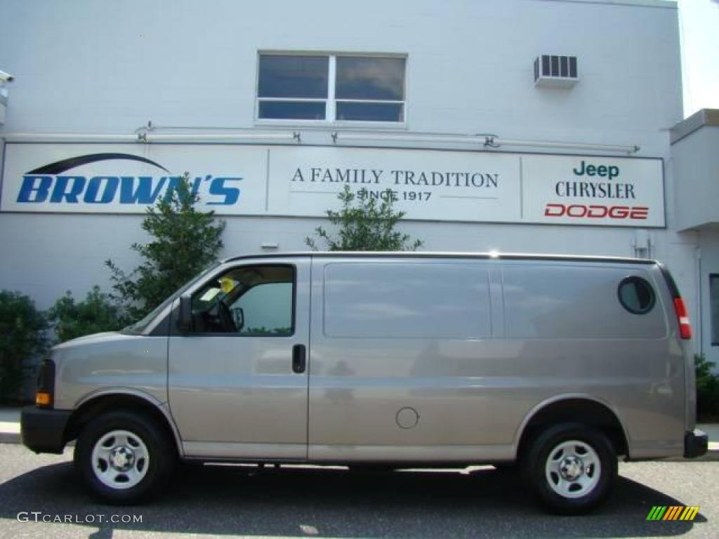 2006 graystone metallic chevrolet express 1500 cargo van 15263227 car color. Black Bedroom Furniture Sets. Home Design Ideas