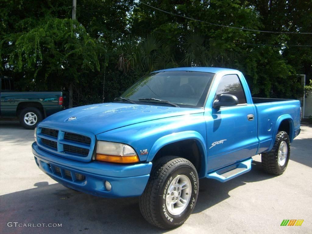 1998 dakota sport regular cab 4x4 intense blue agate photo 7
