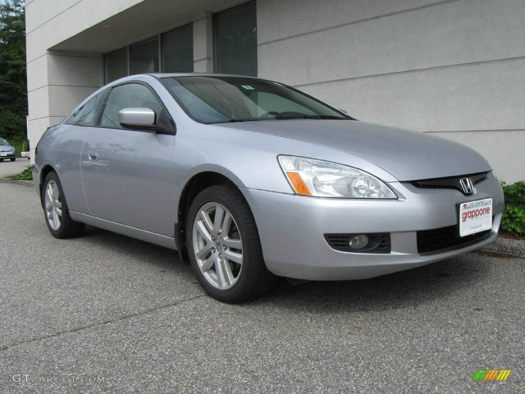 2004 satin silver metallic honda accord ex v6 coupe. Black Bedroom Furniture Sets. Home Design Ideas