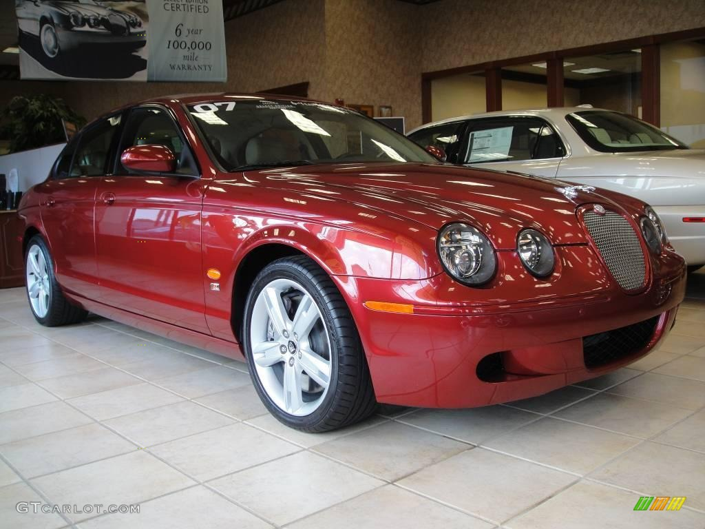 2007 radiance red metallic jaguar s type r sport 15265789 jaguar s type r red #3