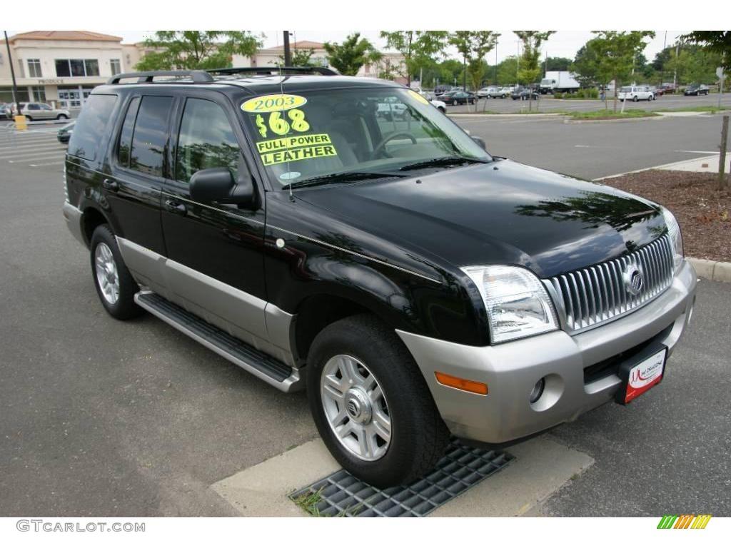 2003 Black Mercury Mountaineer Convenience Awd 15276104 Photo 3 Car Color
