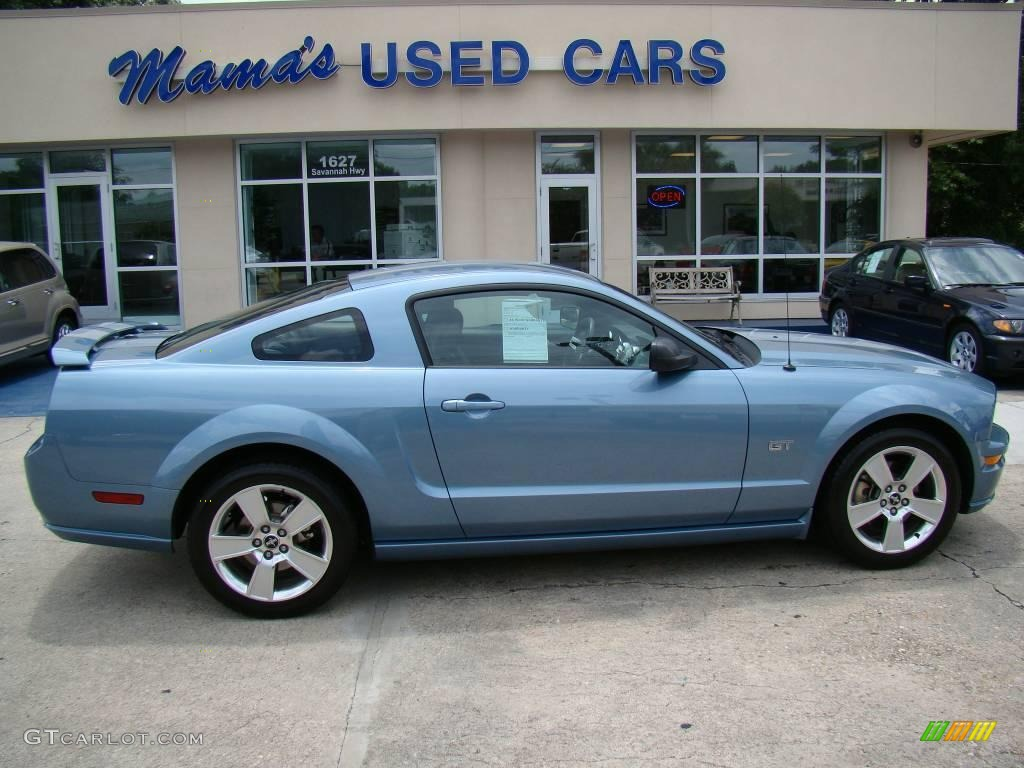 2007 Mustang GT Premium Coupe - Windveil Blue Metallic / Dark Charcoal photo #1