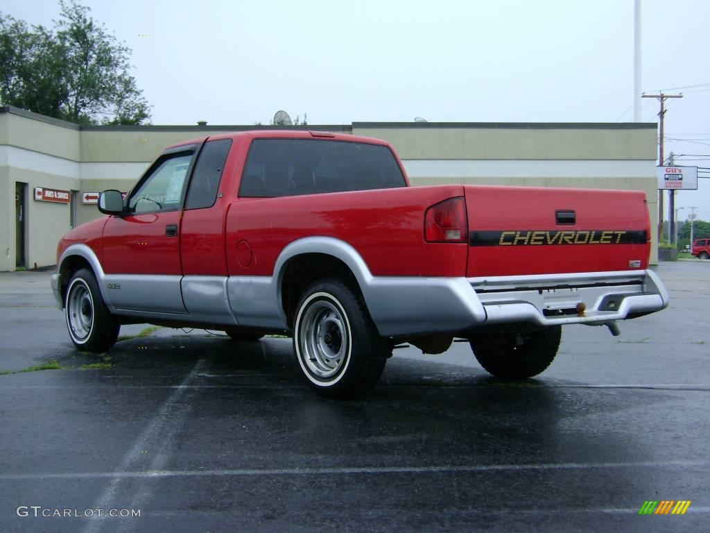 1994 bright red chevrolet s10 ls extended cab 15332722 photo 5 car color. Black Bedroom Furniture Sets. Home Design Ideas