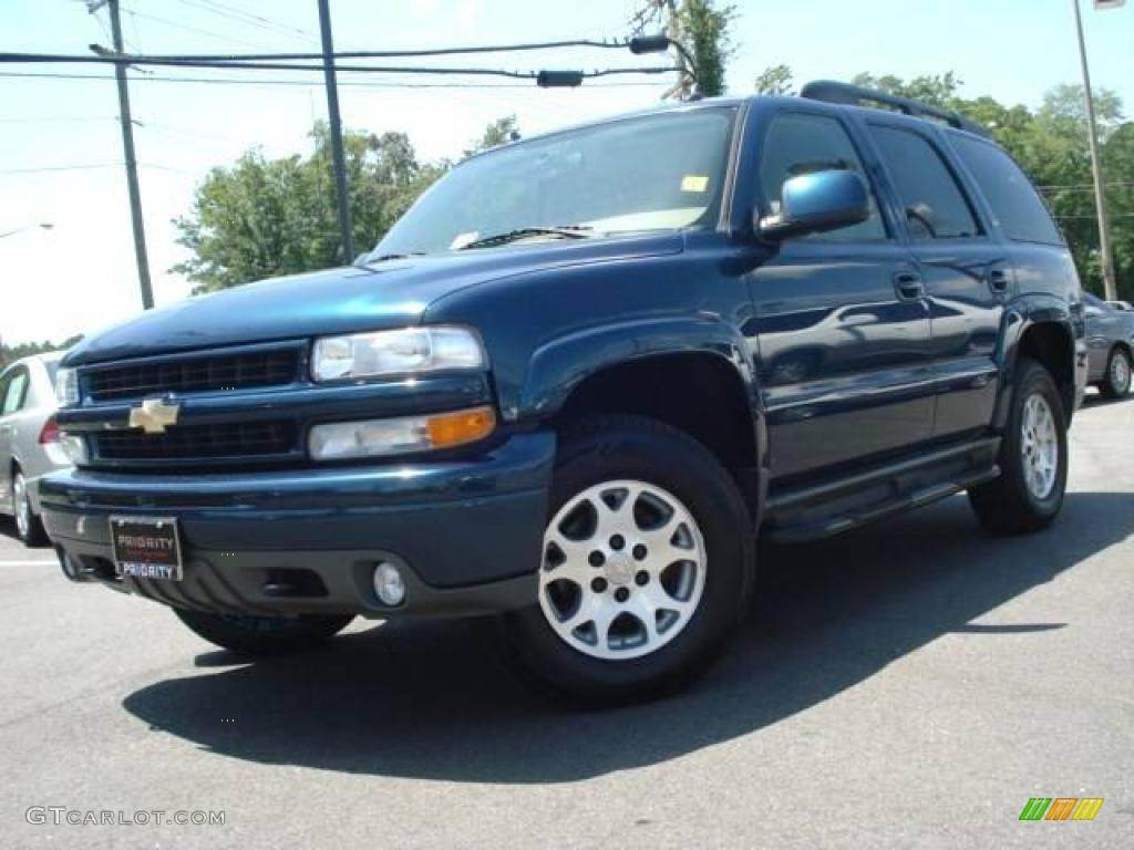 2005 Tahoe Z71   Bermuda Blue Metallic / Tan/Neutral Photo #1