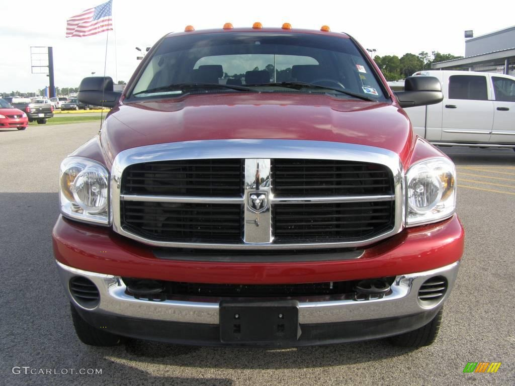 2007 Ram 3500 SLT Mega Cab 4x4 Dually - Inferno Red Crystal Pearl / Medium Slate Gray photo #8