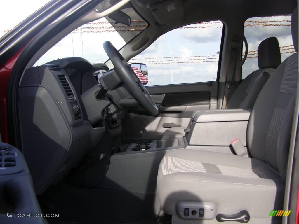 2007 Ram 3500 SLT Mega Cab 4x4 Dually - Inferno Red Crystal Pearl / Medium Slate Gray photo #9