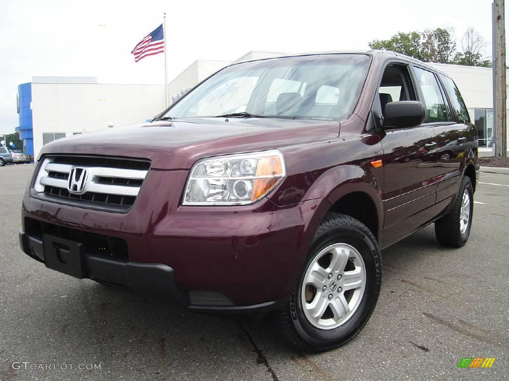 2007 Pilot LX 4WD - Dark Cherry Pearl / Gray photo #1
