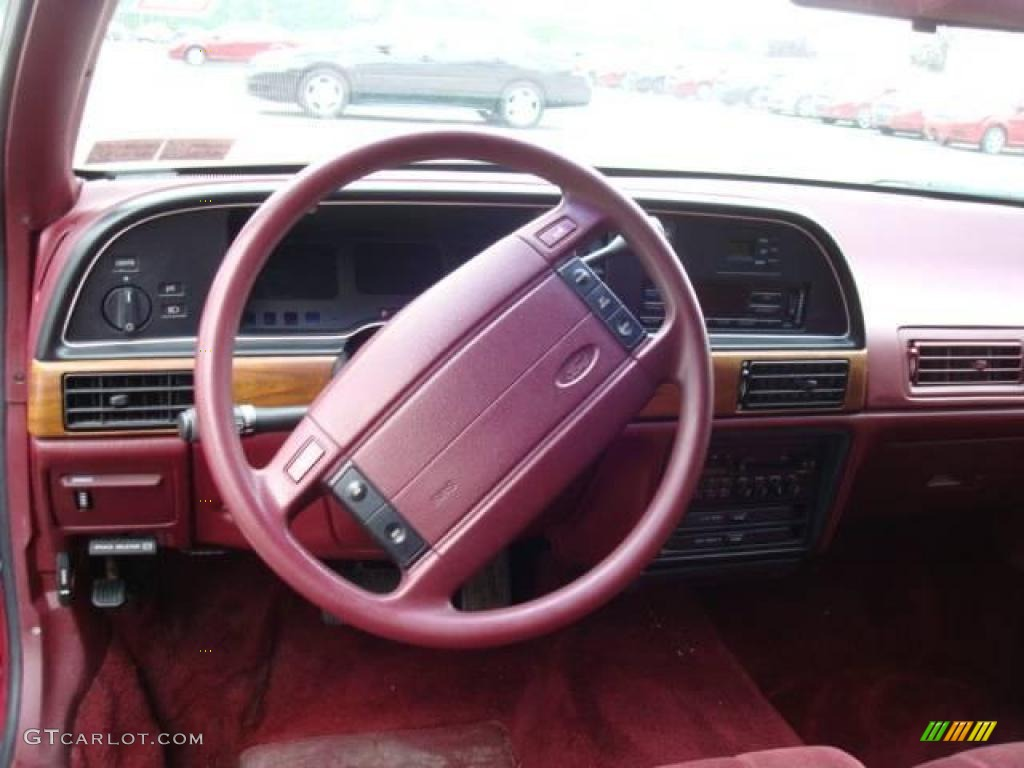 1990 Ford Taurus >> 1991 Currant Red Metallic Ford Taurus GL Sedan #15336170 Photo #10 | GTCarLot.com - Car Color ...