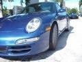 2007 Cobalt Blue Metallic Porsche 911 Carrera Cabriolet  photo #3