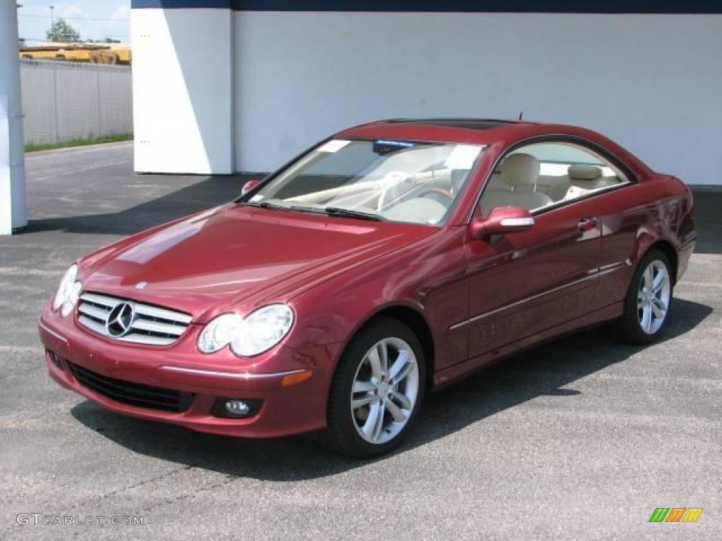 2007 storm red metallic mercedes benz clk 350 coupe for Mercedes benz color