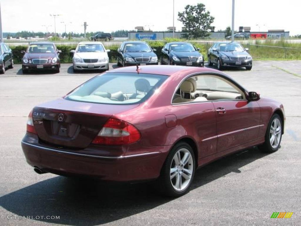 2007 storm red metallic mercedes benz clk 350 coupe for 2007 mercedes benz clk350