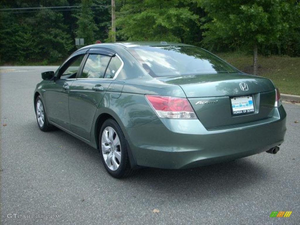2008 mystic green metallic honda accord ex l sedan