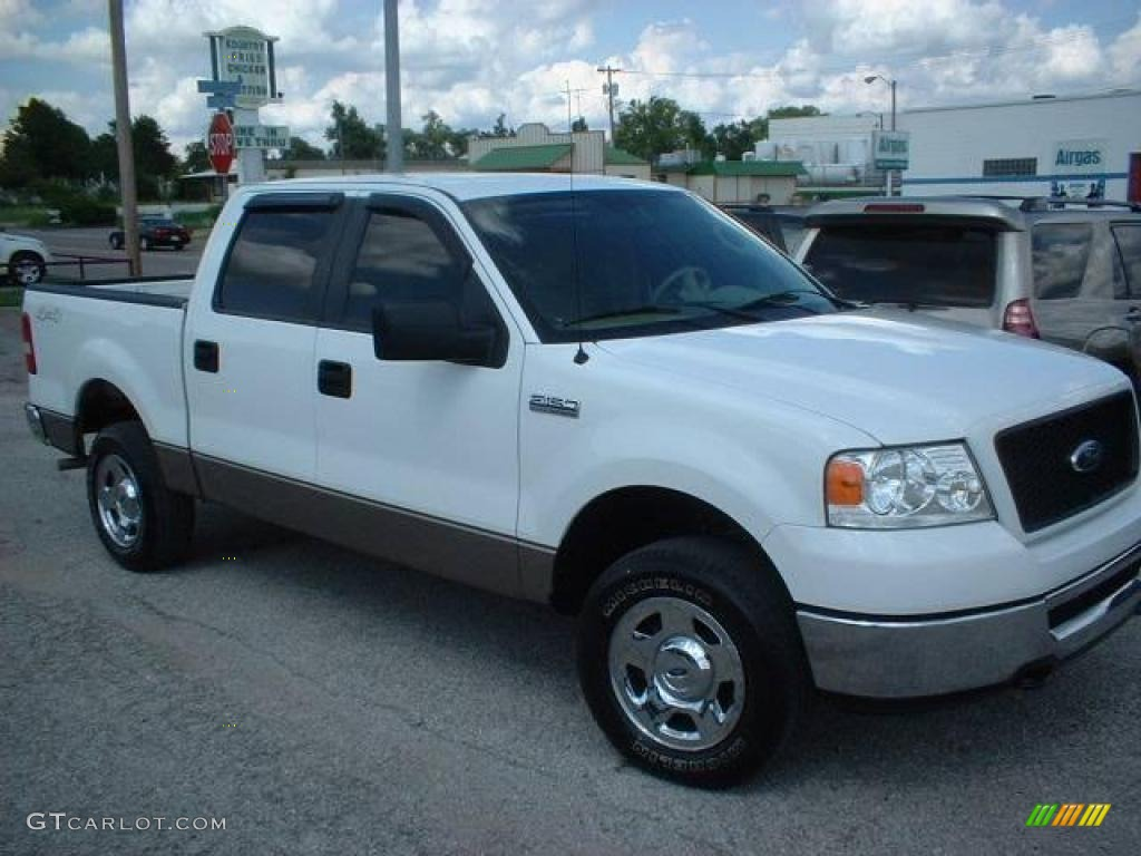 2006 f150 xlt supercrew 4x4 oxford white tan photo 1