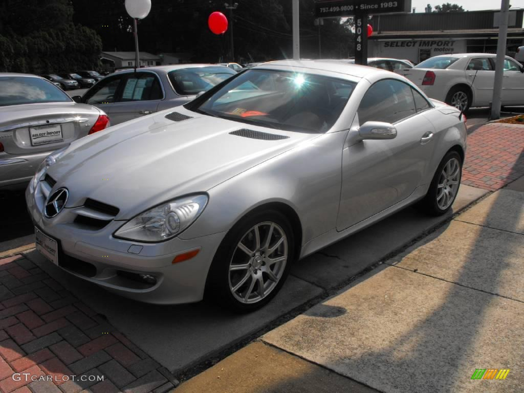 2005 iridium silver metallic mercedes benz slk 350. Black Bedroom Furniture Sets. Home Design Ideas