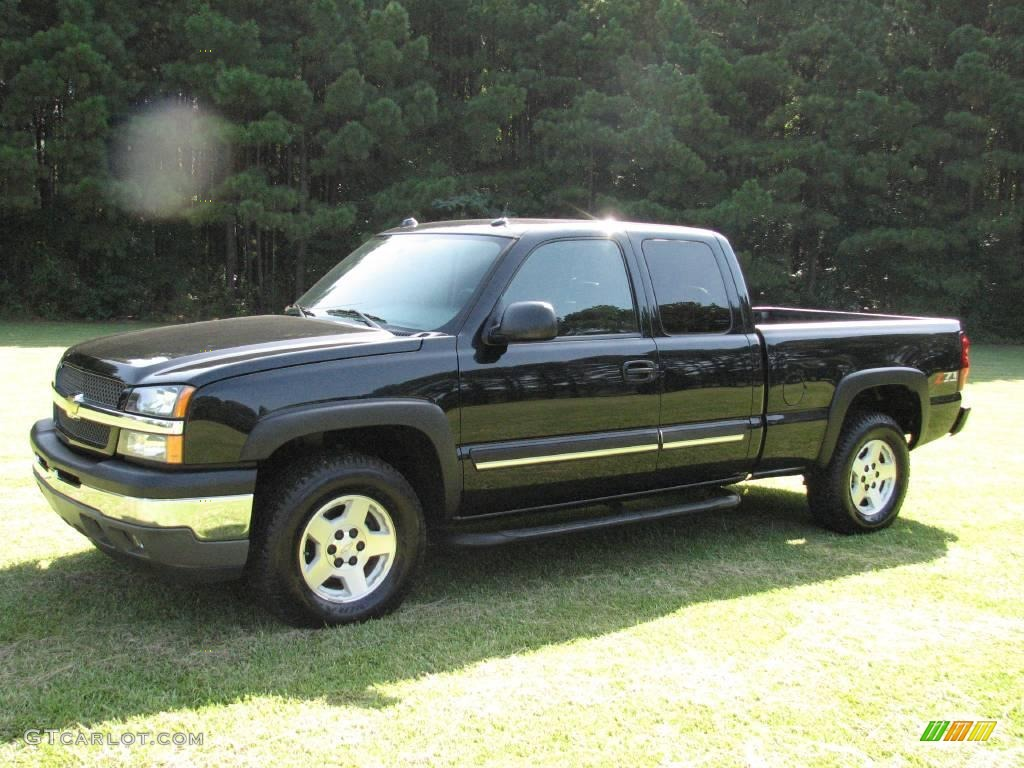 2005 black chevrolet silverado 1500 z71 extended cab 4x4 15517264 car color. Black Bedroom Furniture Sets. Home Design Ideas