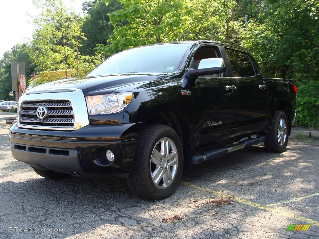 2007 black toyota tundra limited crewmax 4x4 15519453 car color galleries. Black Bedroom Furniture Sets. Home Design Ideas