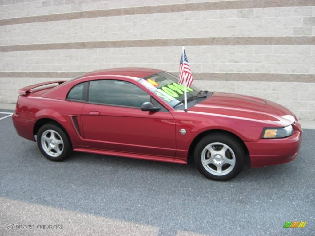 2004 redfire metallic ford mustang v6 coupe 15523896 gtcarlot com