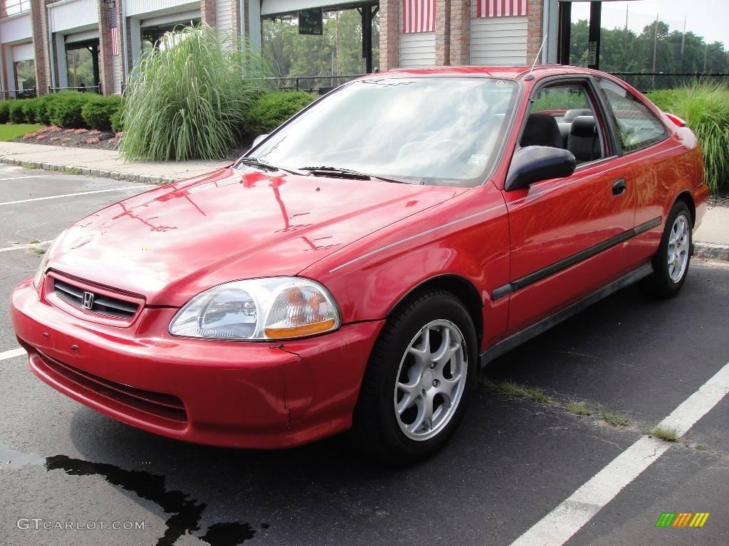 1996 milano red honda civic dx coupe 15522145 car color galleries. Black Bedroom Furniture Sets. Home Design Ideas