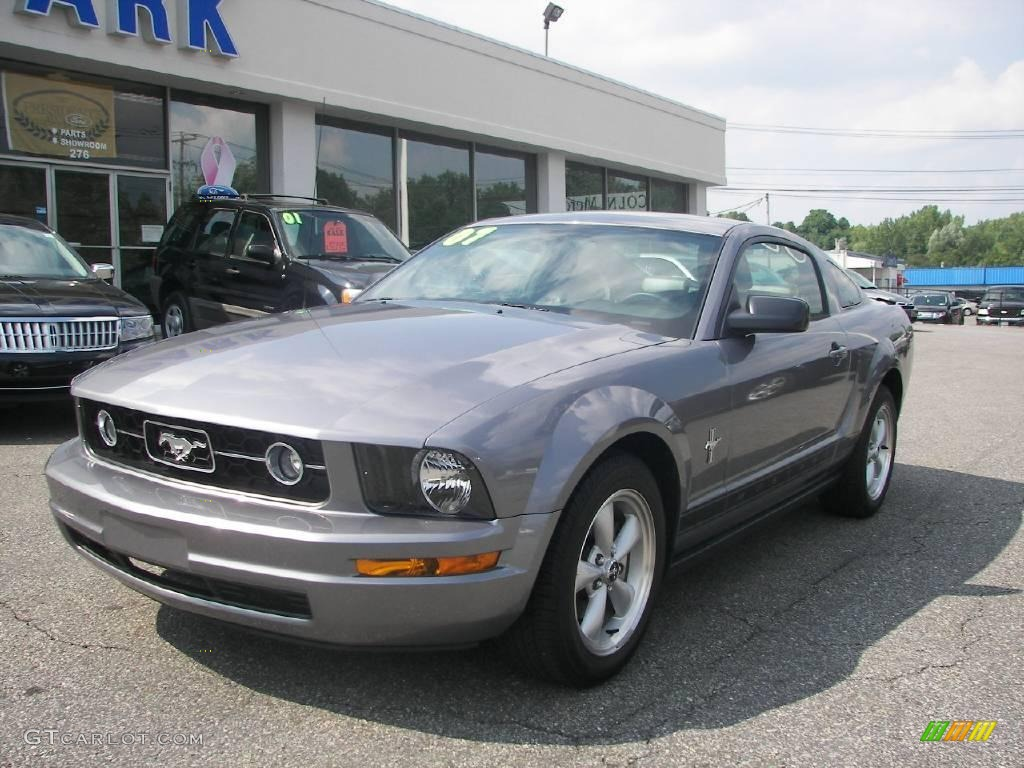2007 Mustang V6 Premium Coupe - Tungsten Grey Metallic / Dark Charcoal photo #1