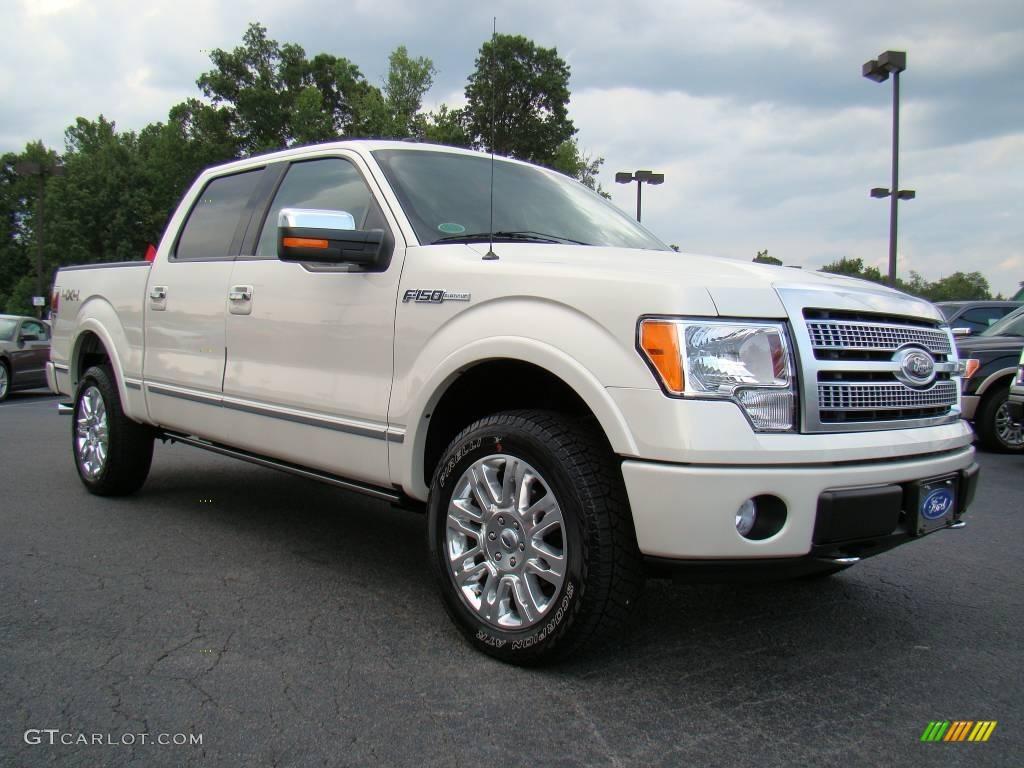 2009 White Sand Tri Coat Metallic Ford F150 Platinum