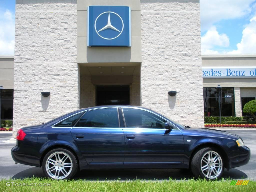 1998 europa blue mica metallic audi a6 2.8 quattro sedan #15565000