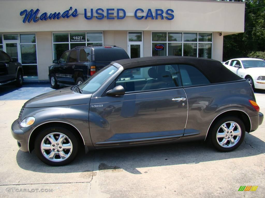 2005 graphite gray metallic chrysler pt cruiser touring turbo convertible 15577464 gtcarlot. Black Bedroom Furniture Sets. Home Design Ideas
