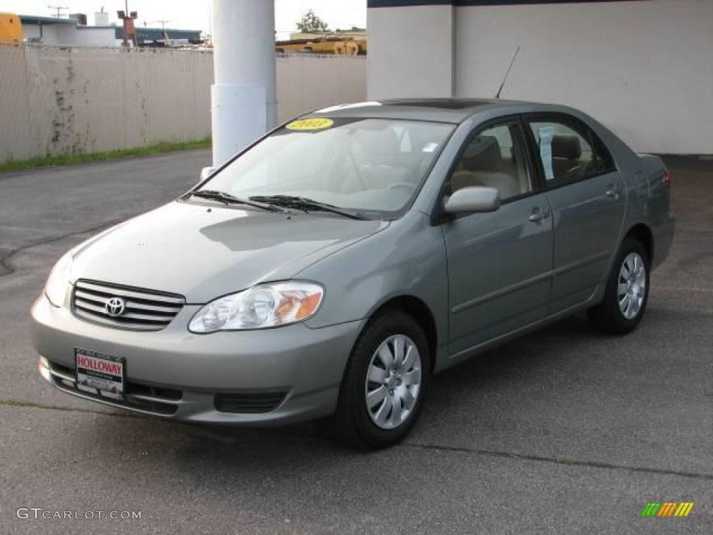 2003 Corolla LE   Mineral Green Metallic / Light Gray Photo #1