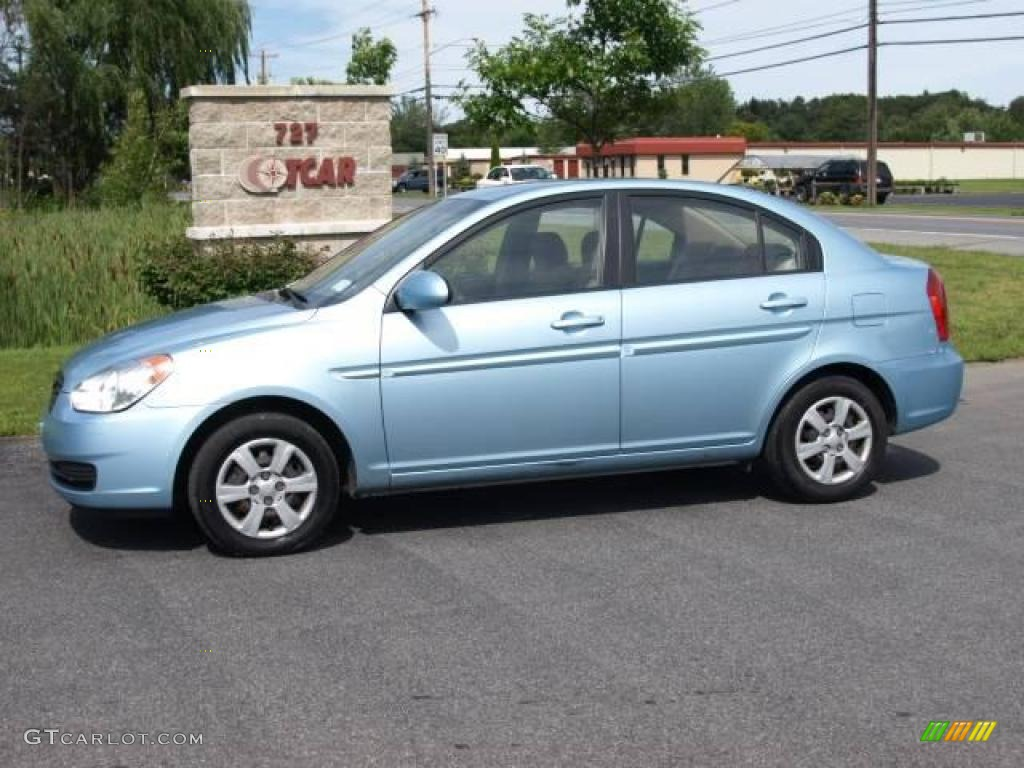 2006 Ice Blue Hyundai Accent GLS Sedan #15577511 Photo #10 ...