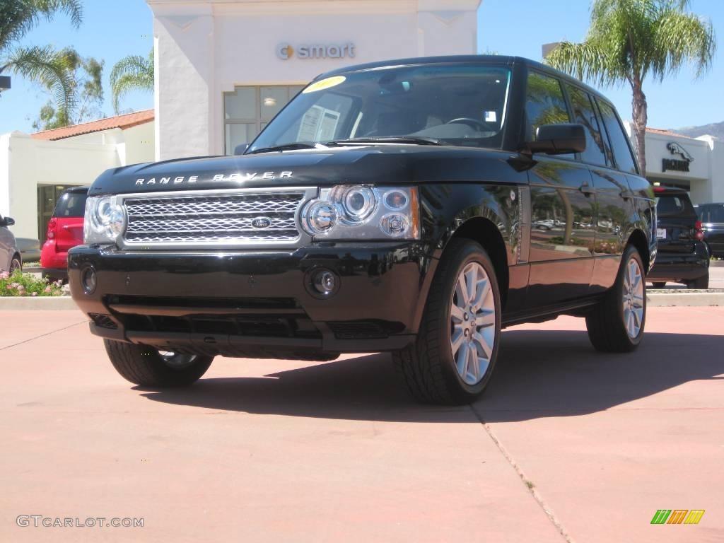 2007 Range Rover Supercharged - Java Black Pearl / Jet Black photo #1