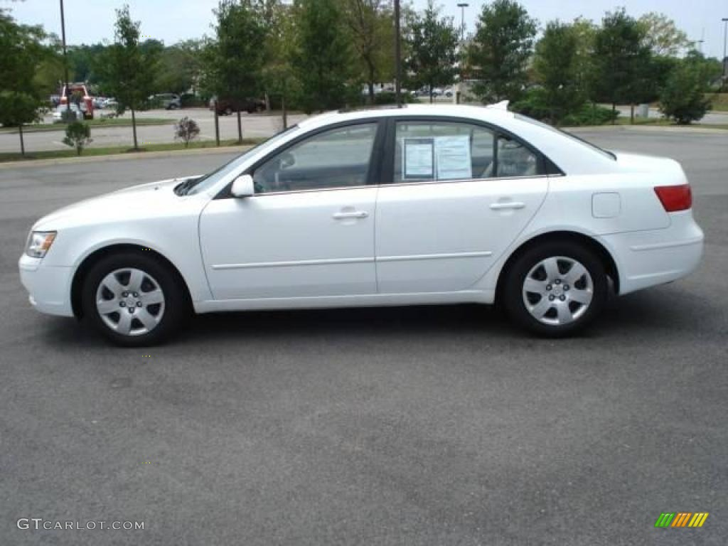 2009 Powder White Pearl Hyundai Sonata Gls 15573846 Photo