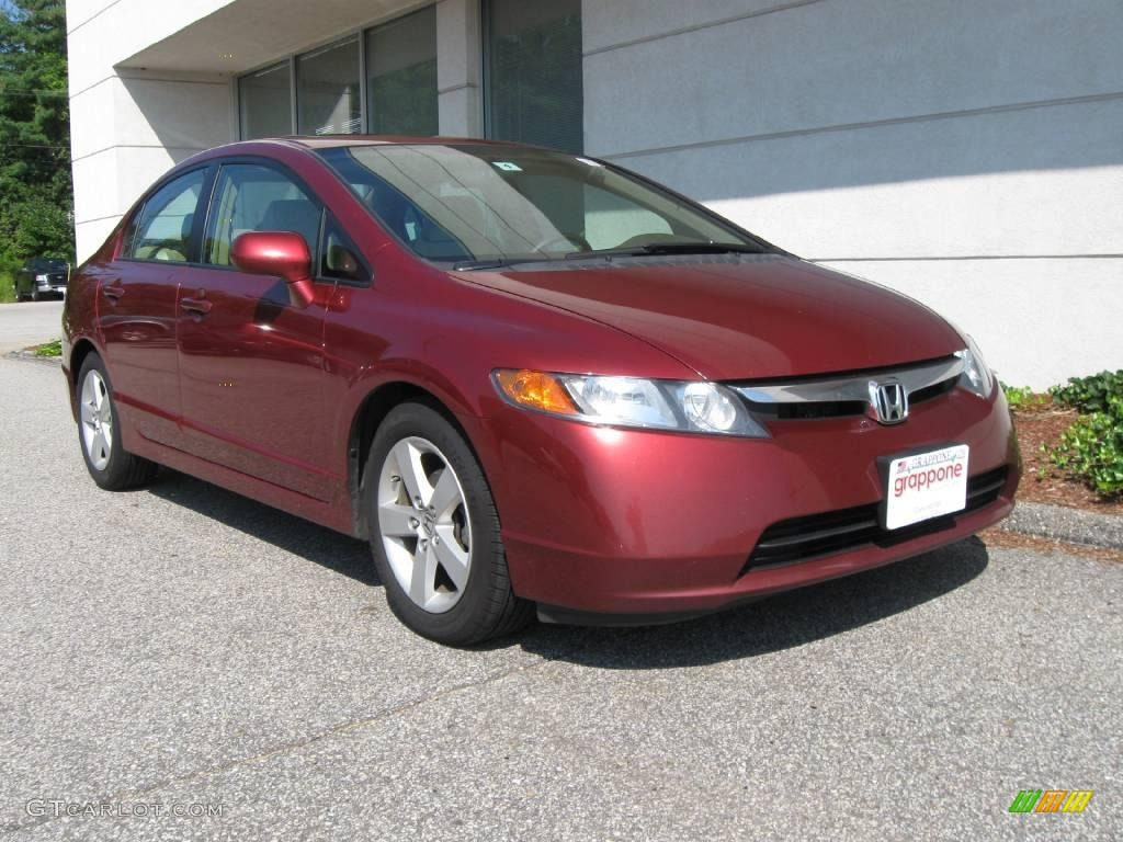 2006 tango red pearl honda civic ex sedan 15577822. Black Bedroom Furniture Sets. Home Design Ideas