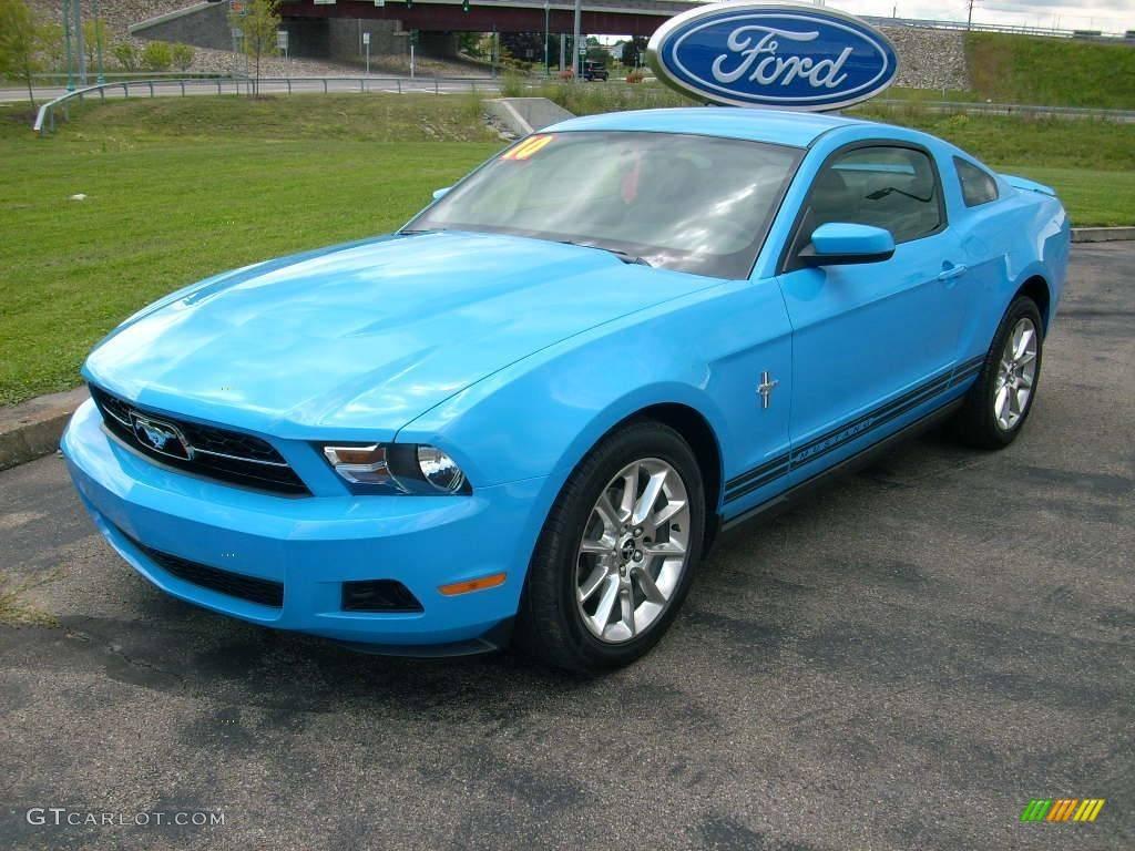2010 grabber blue ford mustang v6 coupe 15624655. Black Bedroom Furniture Sets. Home Design Ideas